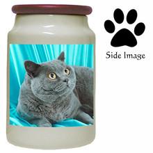 British Shorthair Cat Canister Jar