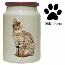 Savannah Cat Canister Jar