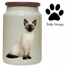 Siamese Cat Canister Jar