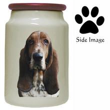 Basset Hound Canister Jar