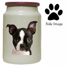 Boston Terrier Canister Jar