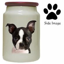 Boston Terrier Canister Jar