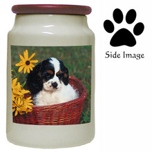 Cavalier King Charles Canister Jar