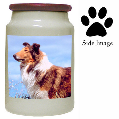 Collie Canister Jar