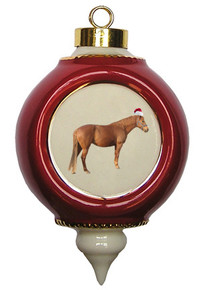 Barb Victorian Red and Gold Christmas Ornament
