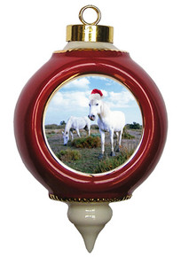 Camargue Victorian Red and Gold Christmas Ornament