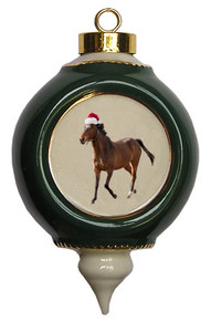 Arabian Victorian Green and Gold Christmas Ornament