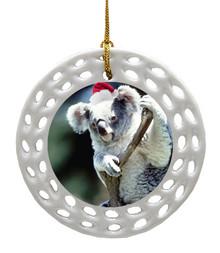 Koala Bear Porcelain Christmas Ornament