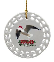 Black Headed Gull Porcelain Christmas Ornament