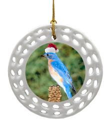 Bluebird Porcelain Christmas Ornament