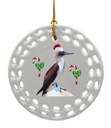 Blue Footed Booby Porcelain Christmas Ornament