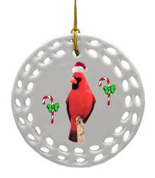 Cardinal Porcelain Christmas Ornament
