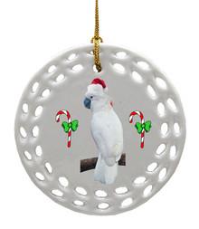 Cockatoo Porcelain Christmas Ornament