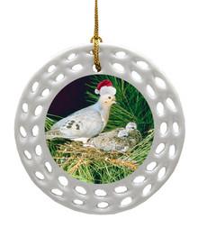 Dove Porcelain Christmas Ornament