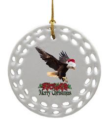 Eagle Porcelain Christmas Ornament