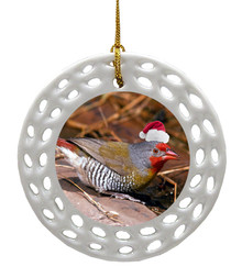 Finch Porcelain Christmas Ornament