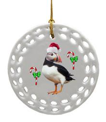 Atlantic Puffin Porcelain Christmas Ornament