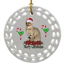 Savannah Porcelain Christmas Ornament