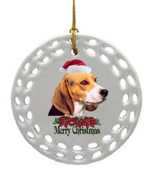 Beagle Porcelain Christmas Ornament