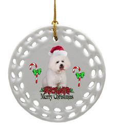 Bichon Porcelain Christmas Ornament
