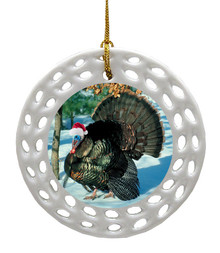 Turkey Porcelain Christmas Ornament