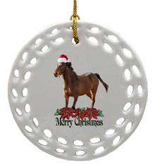 Arabian Porcelain Christmas Ornament