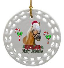 Haflinger Porcelain Christmas Ornament
