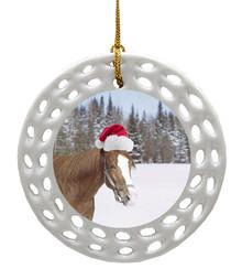 Horse Porcelain Christmas Ornament