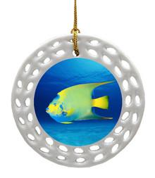 Angelfish Porcelain Christmas Ornament