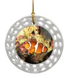 Clownfish Porcelain Christmas Ornament