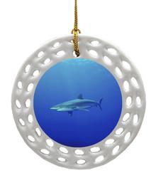 Shark Porcelain Christmas Ornament