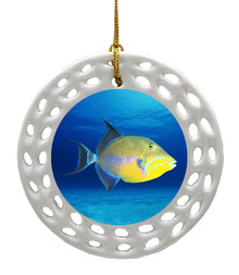 Triggerfish Porcelain Christmas Ornament