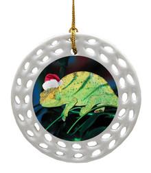 Chameleon Porcelain Christmas Ornament
