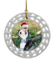Cobra Snake Porcelain Christmas Ornament