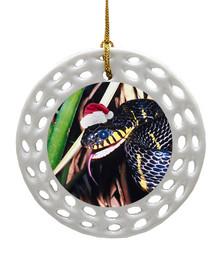 Mangrove Snake Porcelain Christmas Ornament