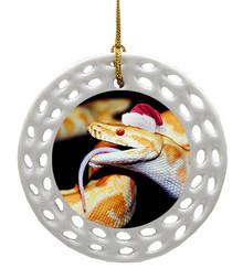Python Snake Porcelain Christmas Ornament