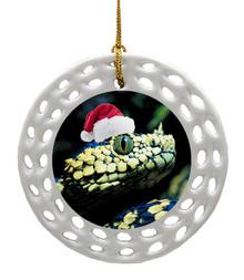 Viper Snake Porcelain Christmas Ornament