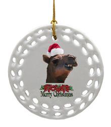 Camel Porcelain Christmas Ornament
