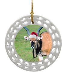 Eland Porcelain Christmas Ornament