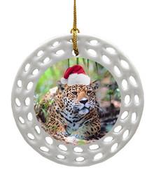 Jaguar Porcelain Christmas Ornament