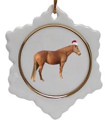 Barb Jolly Santa Snowflake Christmas Ornament