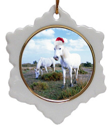 Camargue Jolly Santa Snowflake Christmas Ornament