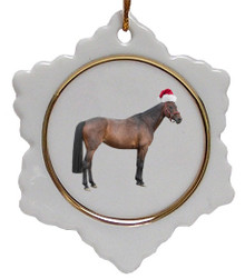 Oldenburg Jolly Santa Snowflake Christmas Ornament