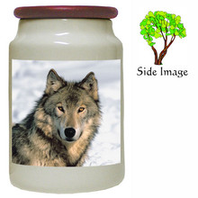 Wolf Canister Jar