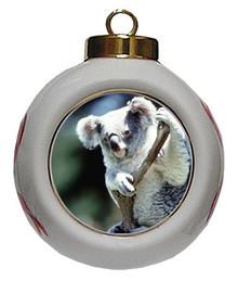 Koala Bear Porcelain Ball Christmas Ornament