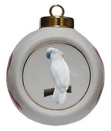 Cockatoo Porcelain Ball Christmas Ornament