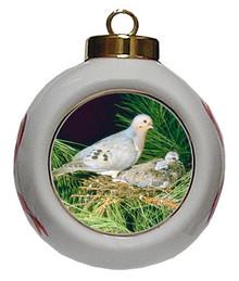 Dove Porcelain Ball Christmas Ornament