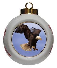 Eagle Porcelain Ball Christmas Ornament