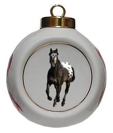 Appaloosa Porcelain Ball Christmas Ornament