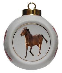 Arabian Porcelain Ball Christmas Ornament